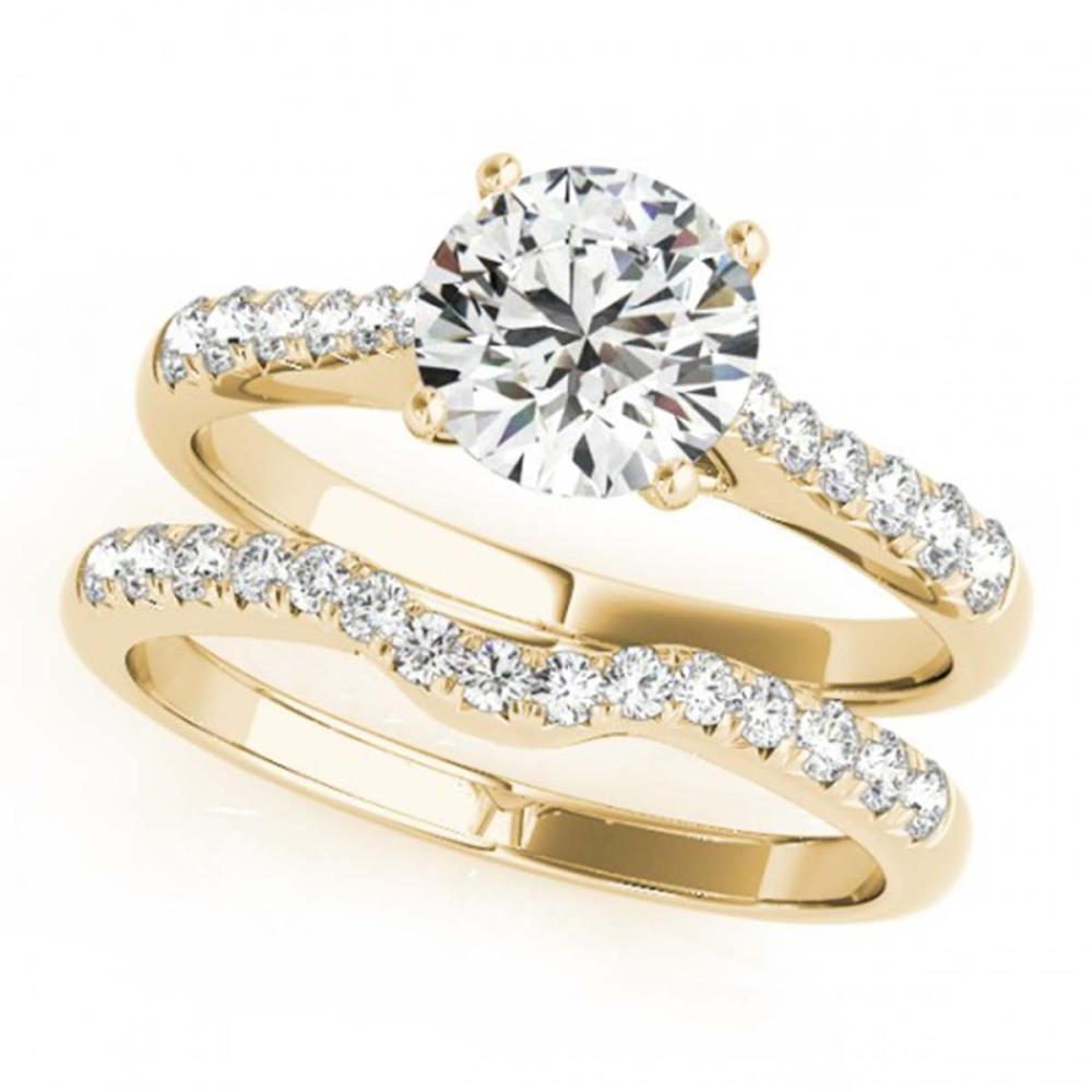 1.23 ctw VS/SI Diamond 2pc Wedding Set 14K Yellow Gold - REF-152N4A - SKU:31579