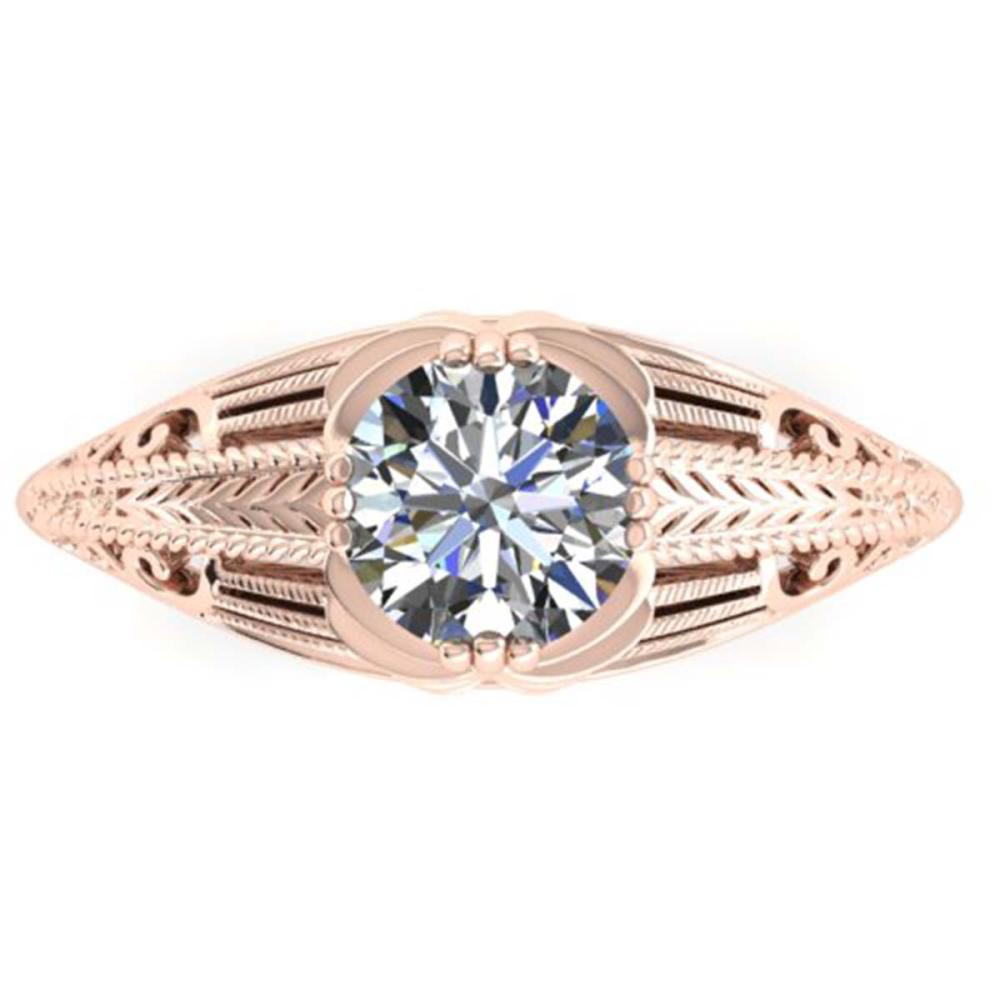 1 ctw Solitaire VS/SI Diamond Ring 14K Rose Gold - REF-296N3A - SKU:38533
