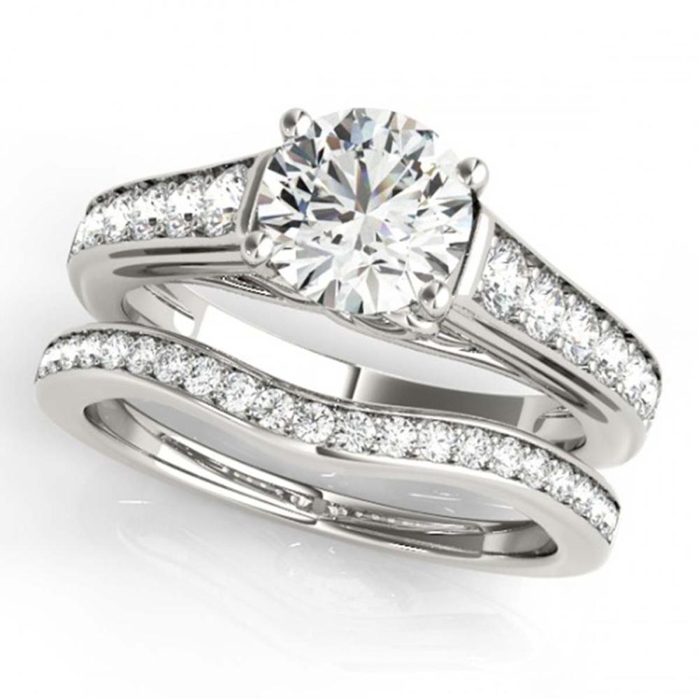 1.70 ctw VS/SI Diamond 2pc Wedding Set 14K White Gold - REF-305R5K - SKU:31628