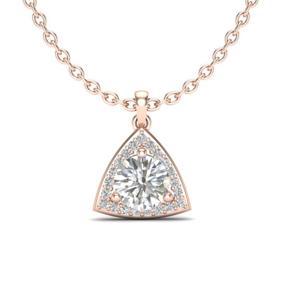 1.50 ctw VS/SI Diamond Necklace 14K Rose Gold - REF-381N4A - SKU:20523