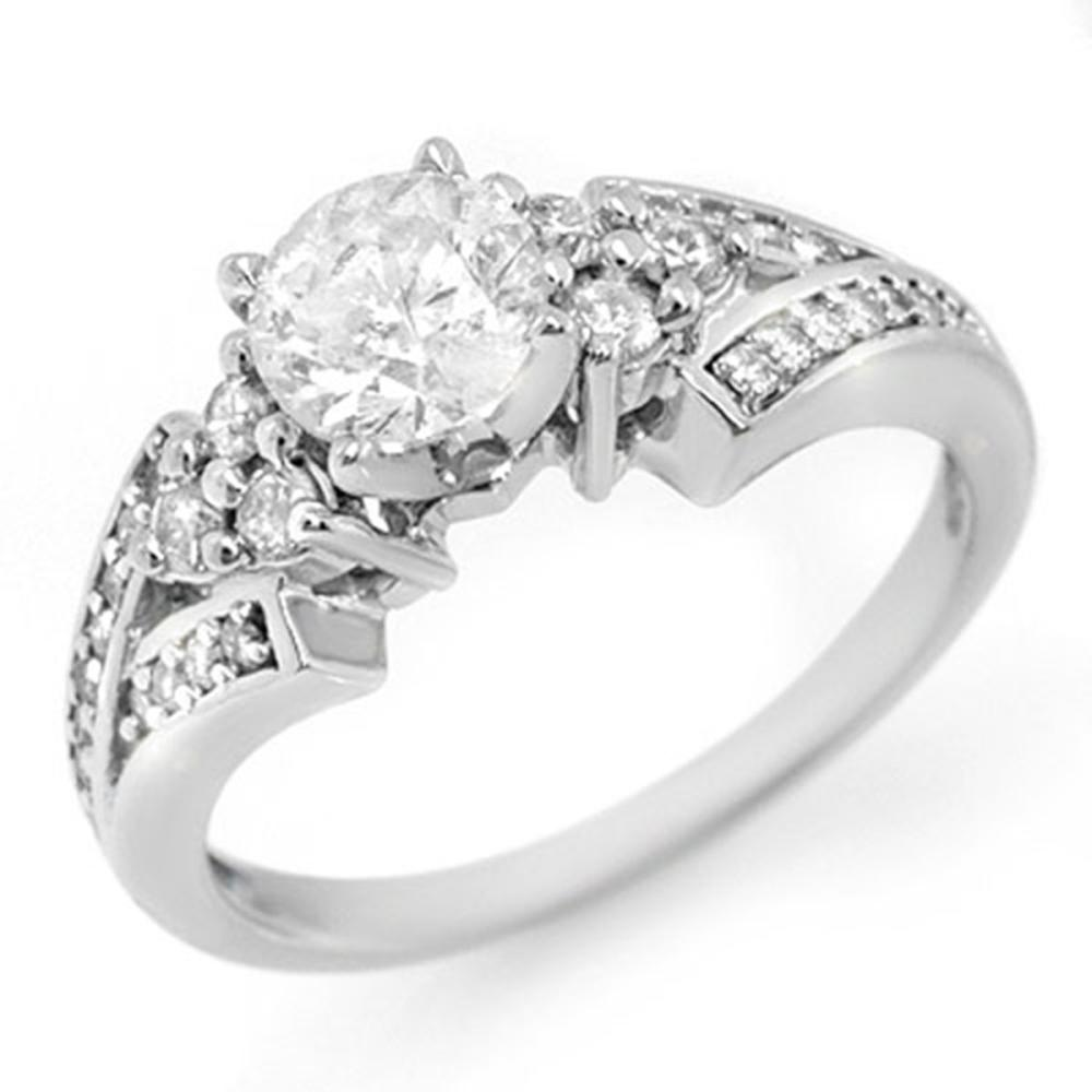 1.42 ctw VS/SI Diamond Ring 18K White Gold - REF-287K5W - SKU:11561