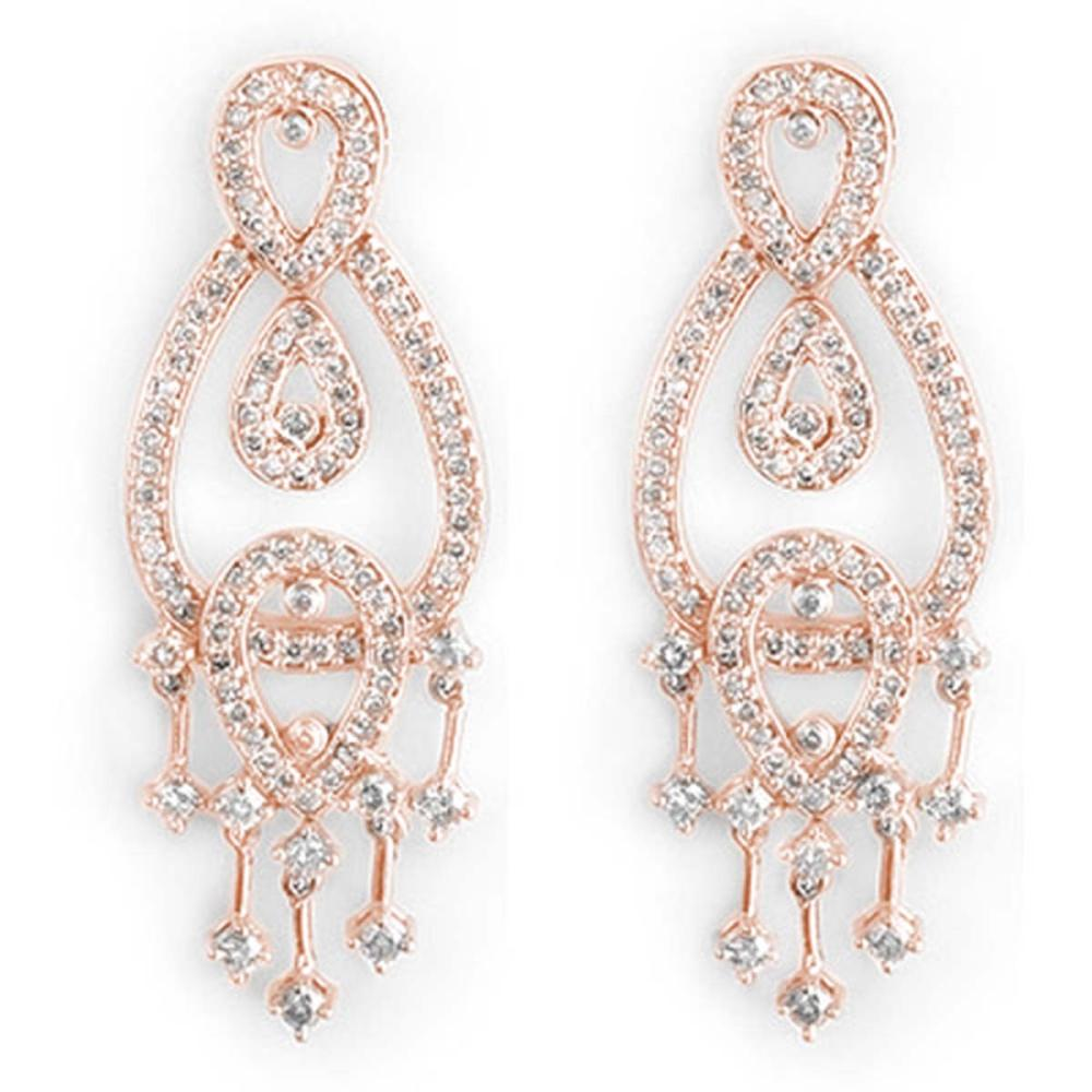 2.0 ctw VS/SI Diamond Earrings 14K Rose Gold - REF-178N2A - SKU:10180