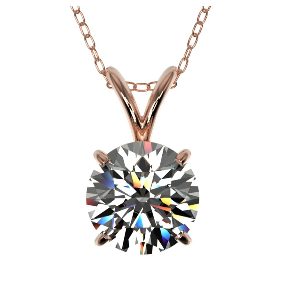1.25 ctw H-SI/I Diamond Necklace 10K Rose Gold - REF-270V2Y - SKU:33202