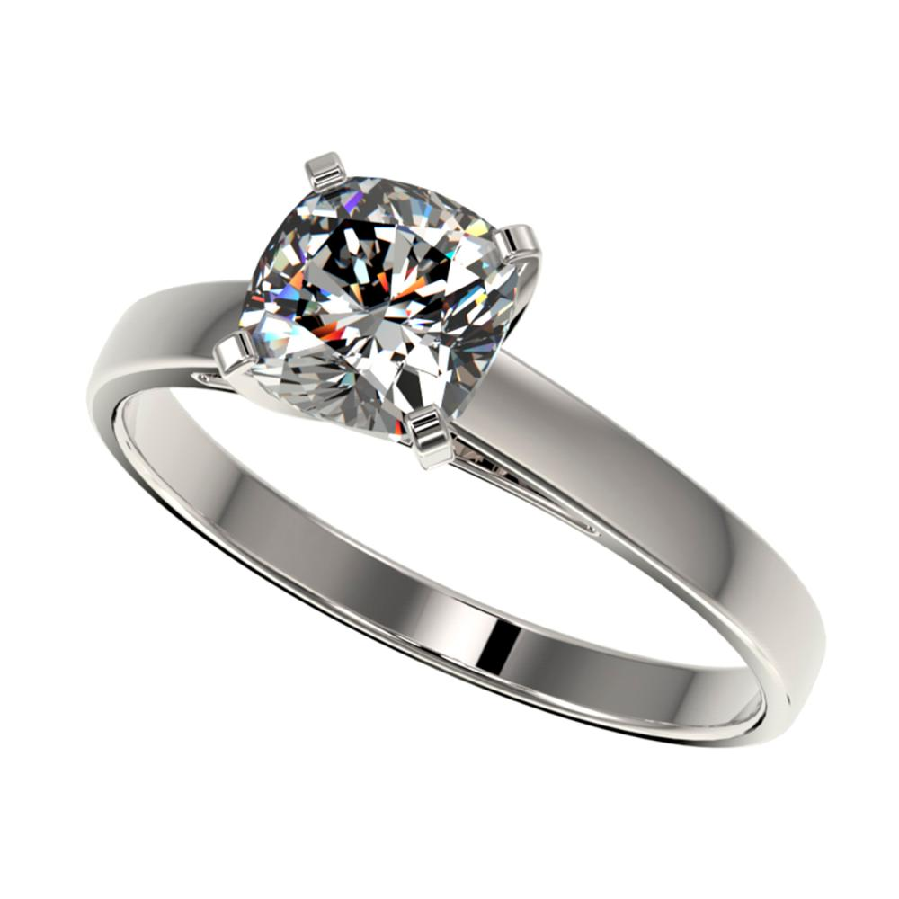 1 ctw VS/SI Cushion Cut Diamond Ring 10K White Gold - REF-297Y2X - SKU:32997
