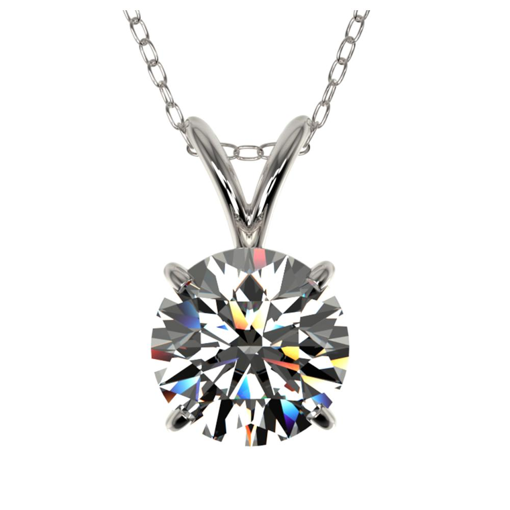 1.29 ctw H-SI/I Diamond Necklace 10K White Gold - REF-270X2R - SKU:36779