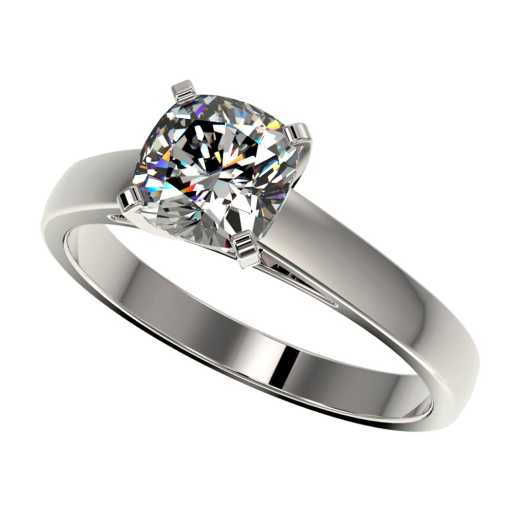 1.25 ctw VS/SI Cushion Cut Diamond Ring 10K White Gold - REF-372V3Y - SKU:33016