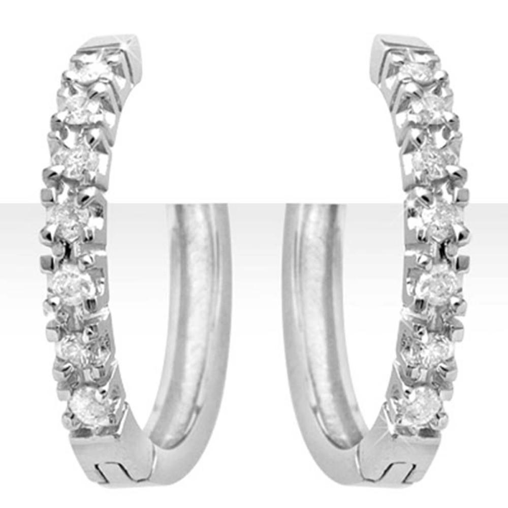 0.40 ctw VS/SI Diamond Earrings 18K White Gold - REF-69F8N - SKU:13860