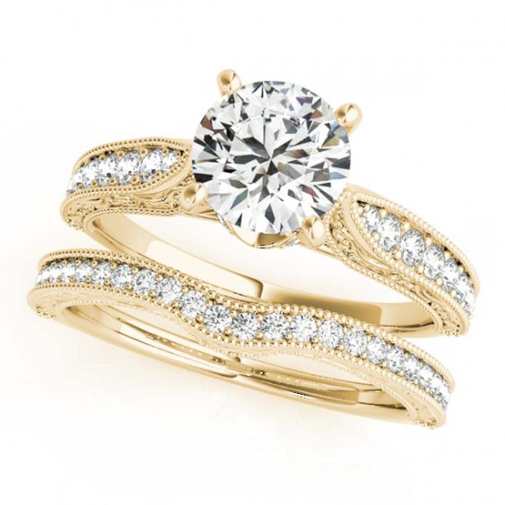 1.41 ctw VS/SI Diamond 2pc Wedding Set 14K Yellow Gold - REF-290H5M - SKU:31507
