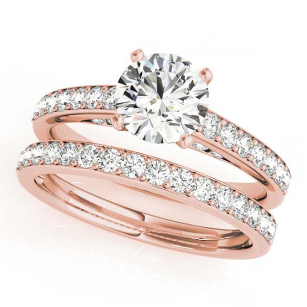 1.91 ctw VS/SI Diamond 2pc Wedding Set 14K Rose Gold - REF-301A3V - SKU:31608