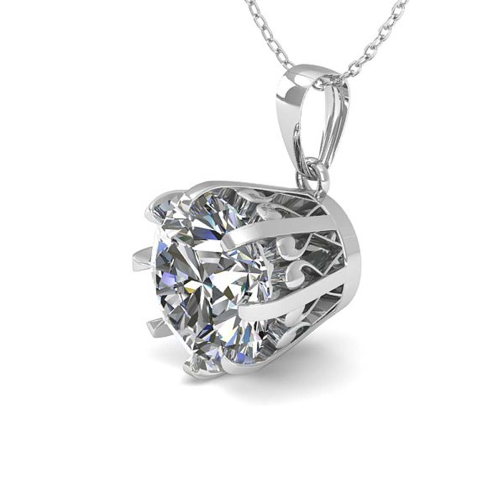 1 ctw VS/SI Diamond Solitaire Necklace 18K White Gold - REF-280R2K - SKU:35712
