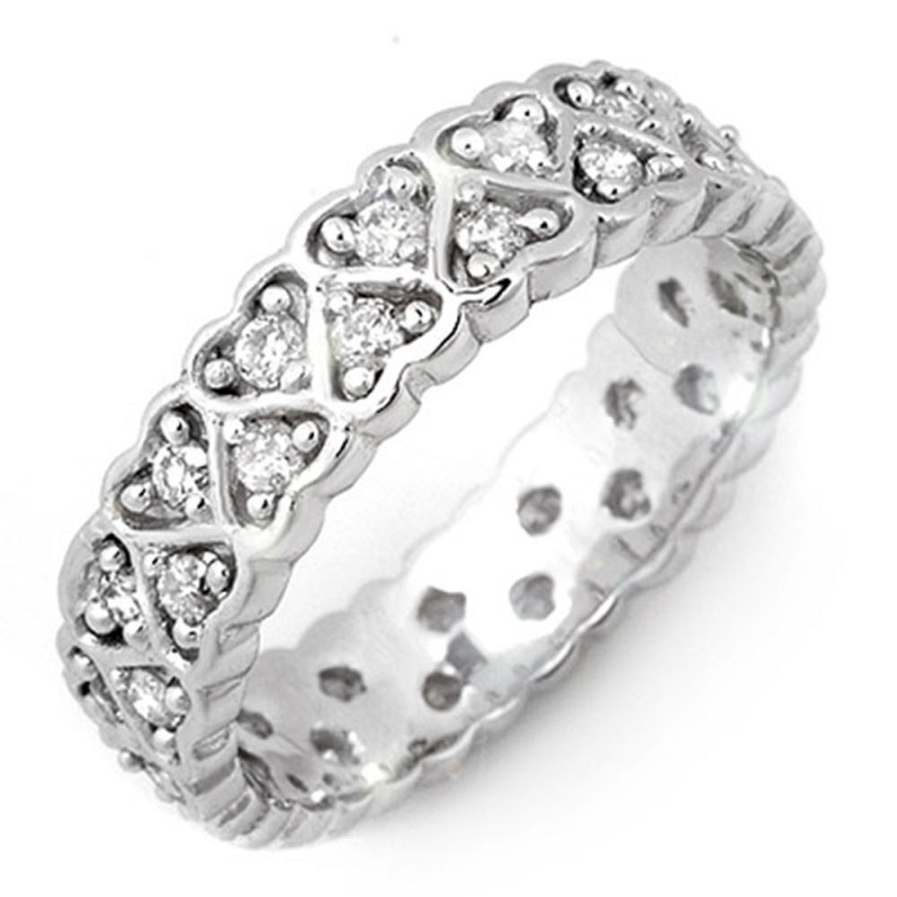 1.0 ctw VS/SI Diamond Ring 18K White Gold - REF-79N5A - SKU:11169