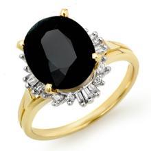 3.20 CTW Blue Sapphire & Diamond Ring 10K Yellow Gold - REF-38T5M - 13080