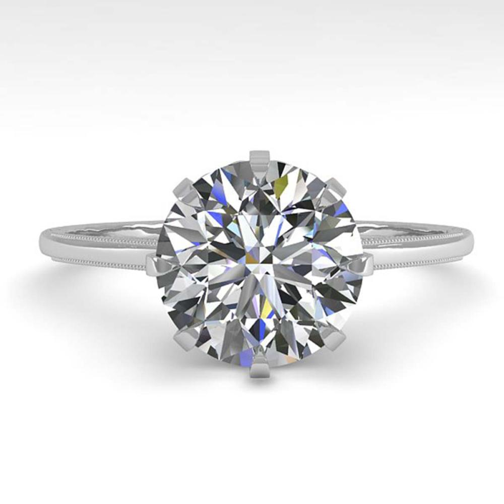 2 ctw VS/SI Diamond Solitaire Engagement Ring 18K White Gold - REF-933W9H - SKU:35766