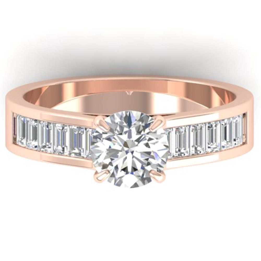 1.75 ctw VS/SI Diamond Art Deco Ring 14K Rose Gold - REF-369V5Y - SKU:30349