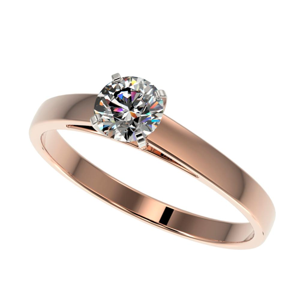 0.55 ctw H-SI/I Diamond Ring 10K Rose Gold - REF-54F2N - SKU:36465