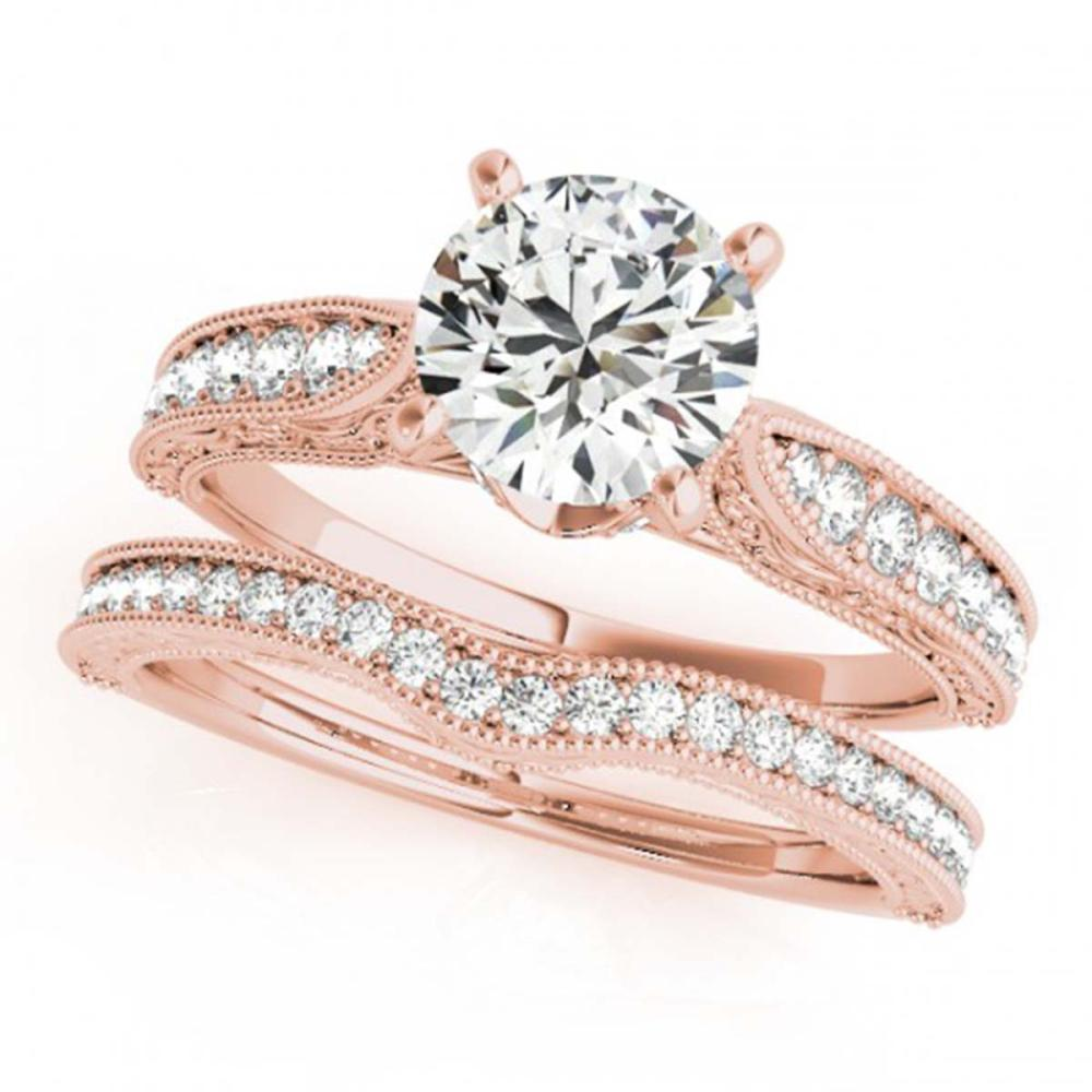 0.95 ctw VS/SI Diamond 2pc Wedding Set 14K Rose Gold - REF-108R2K - SKU:31500