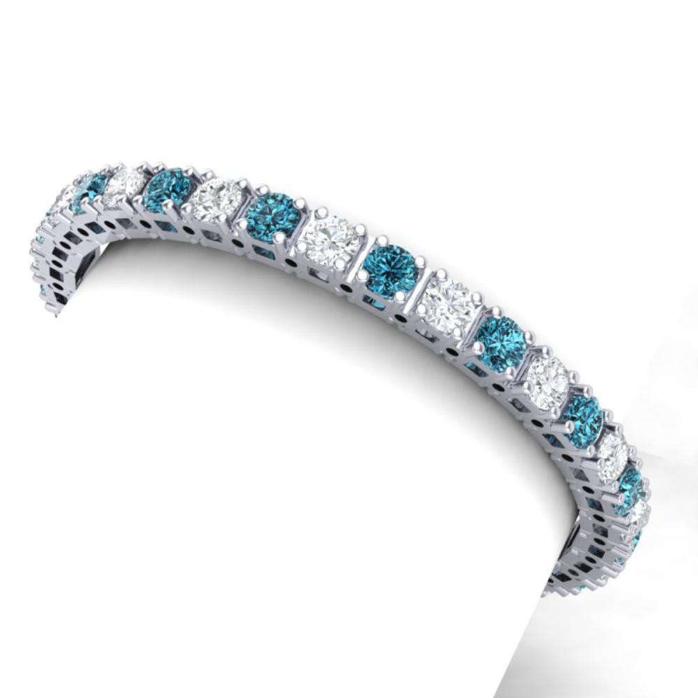 20 ctw SI/I Intense Blue Diamond Bracelet 18K White Gold - REF-2235H2M - SKU:39923