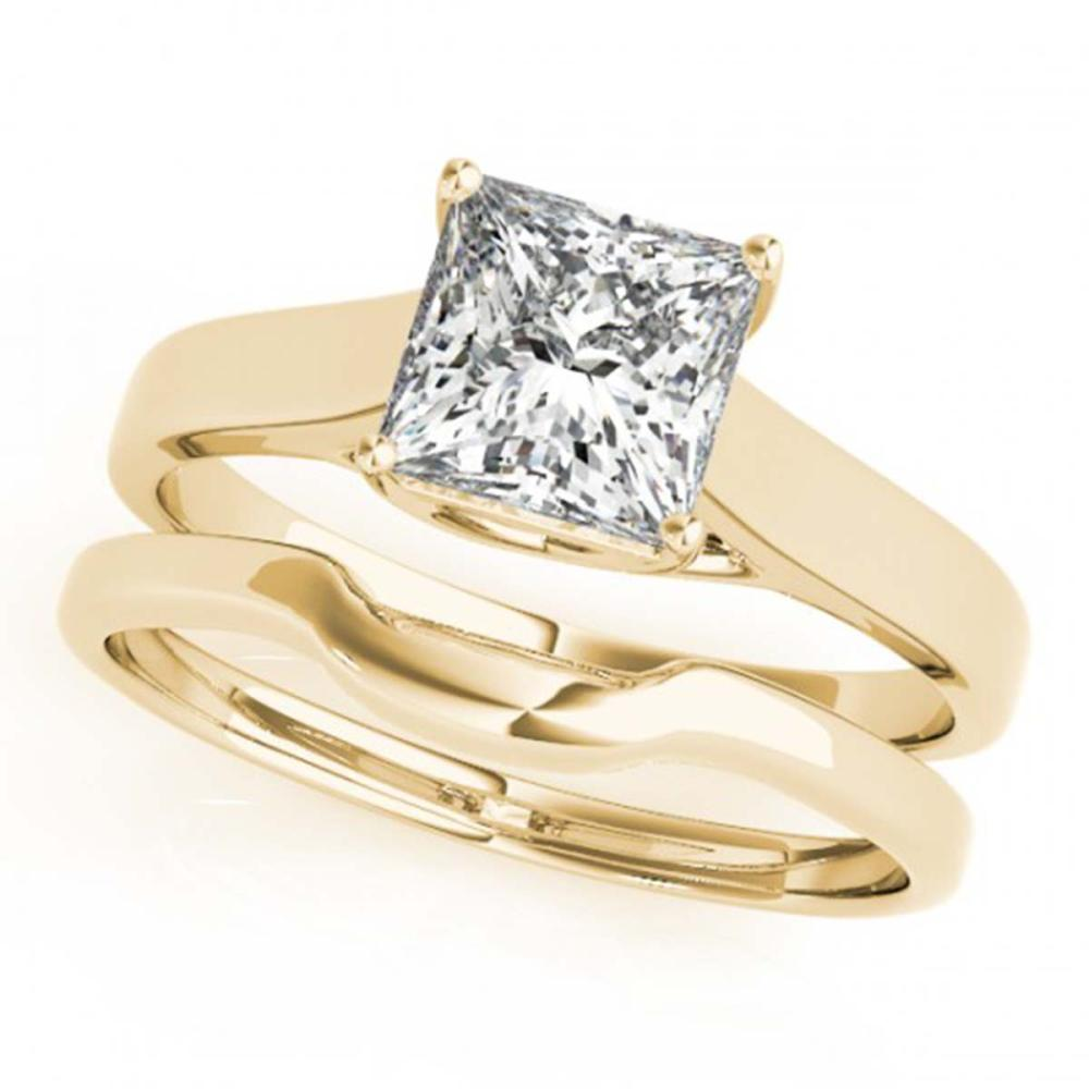 0.75 ctw VS/SI Princess Diamond 2pc Wedding Set 14K Yellow Gold - REF-153X5R - SKU:32104
