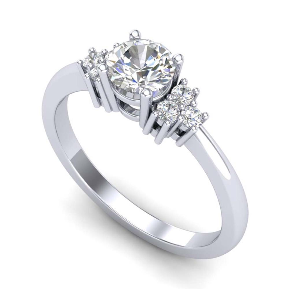 0.75 ctw VS/SI Diamond Ring 18K White Gold - REF-131K3W - SKU:36932