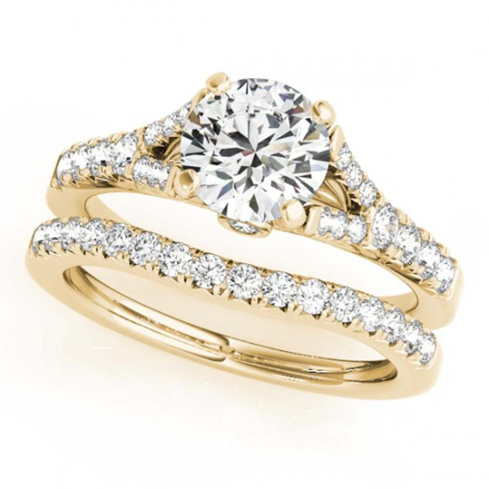 1.06 ctw VS/SI Diamond 2pc Wedding Set 14K Yellow Gold - REF-72M5F - SKU:31744
