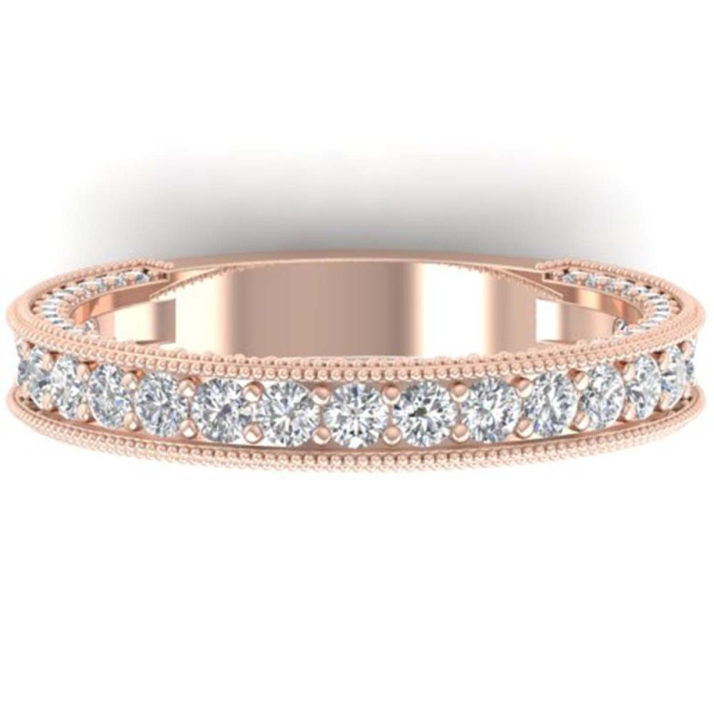 1.25 ctw VS/SI Diamond Art Deco Eternity Band Ring 14K Rose Gold - REF-96R4K - SKU:30322