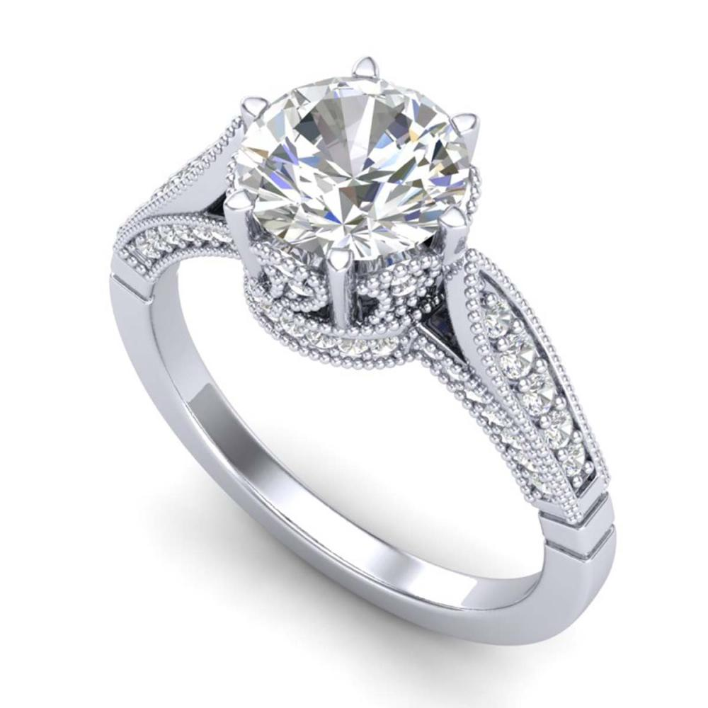 2.2 ctw VS/SI Diamond Art Deco Ring 18K White Gold - REF-725W5H - SKU:37238