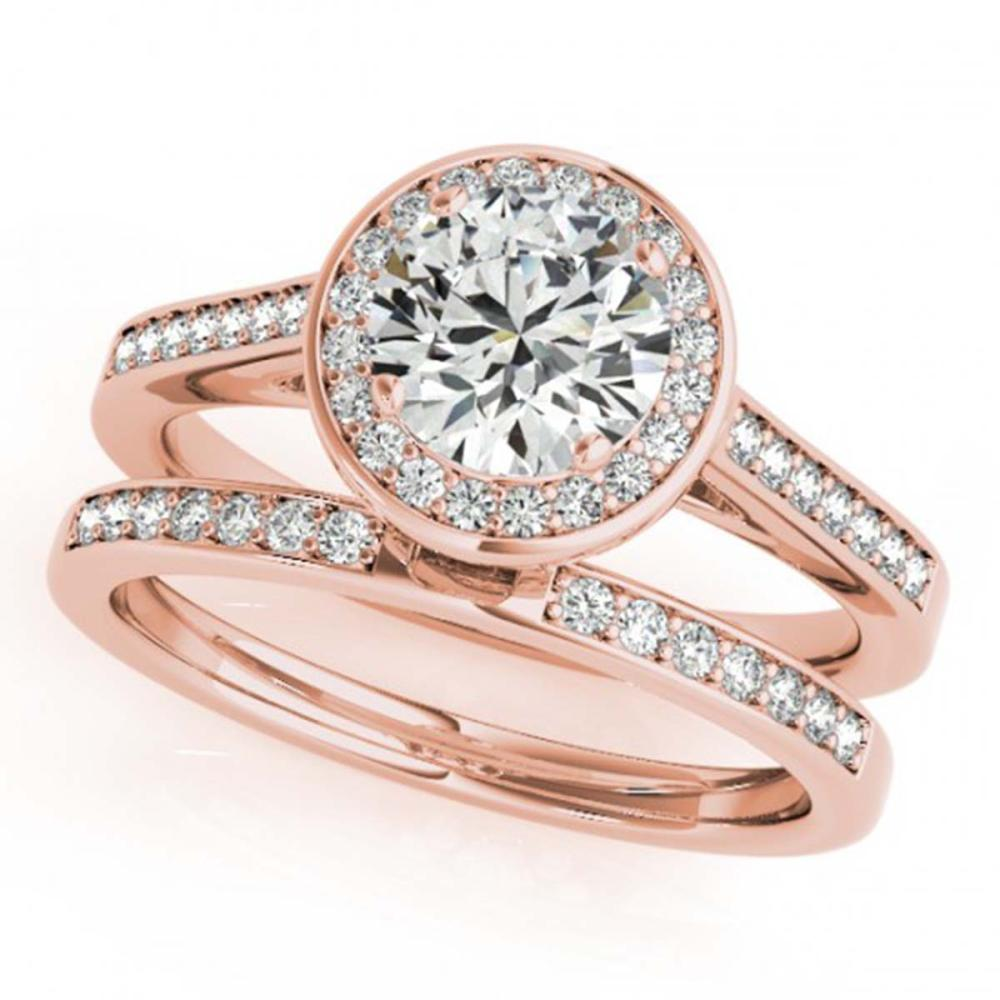 2.02 ctw VS/SI Diamond 2pc Wedding Set Halo 14K Rose Gold - REF-529H3M - SKU:30811