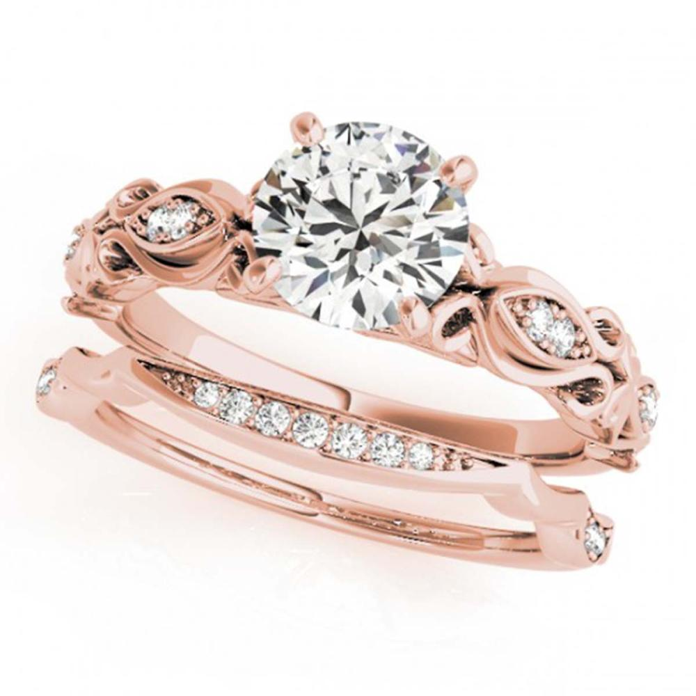 1.21 ctw VS/SI Diamond 2pc Wedding Set 14K Rose Gold - REF-286F3N - SKU:31458