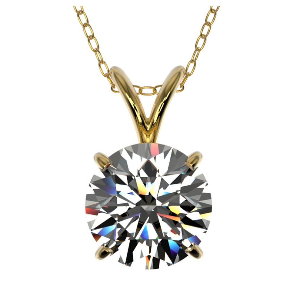 1.55 ctw H-SI/I Diamond Necklace 10K Yellow Gold - REF-322X5R - SKU:36798