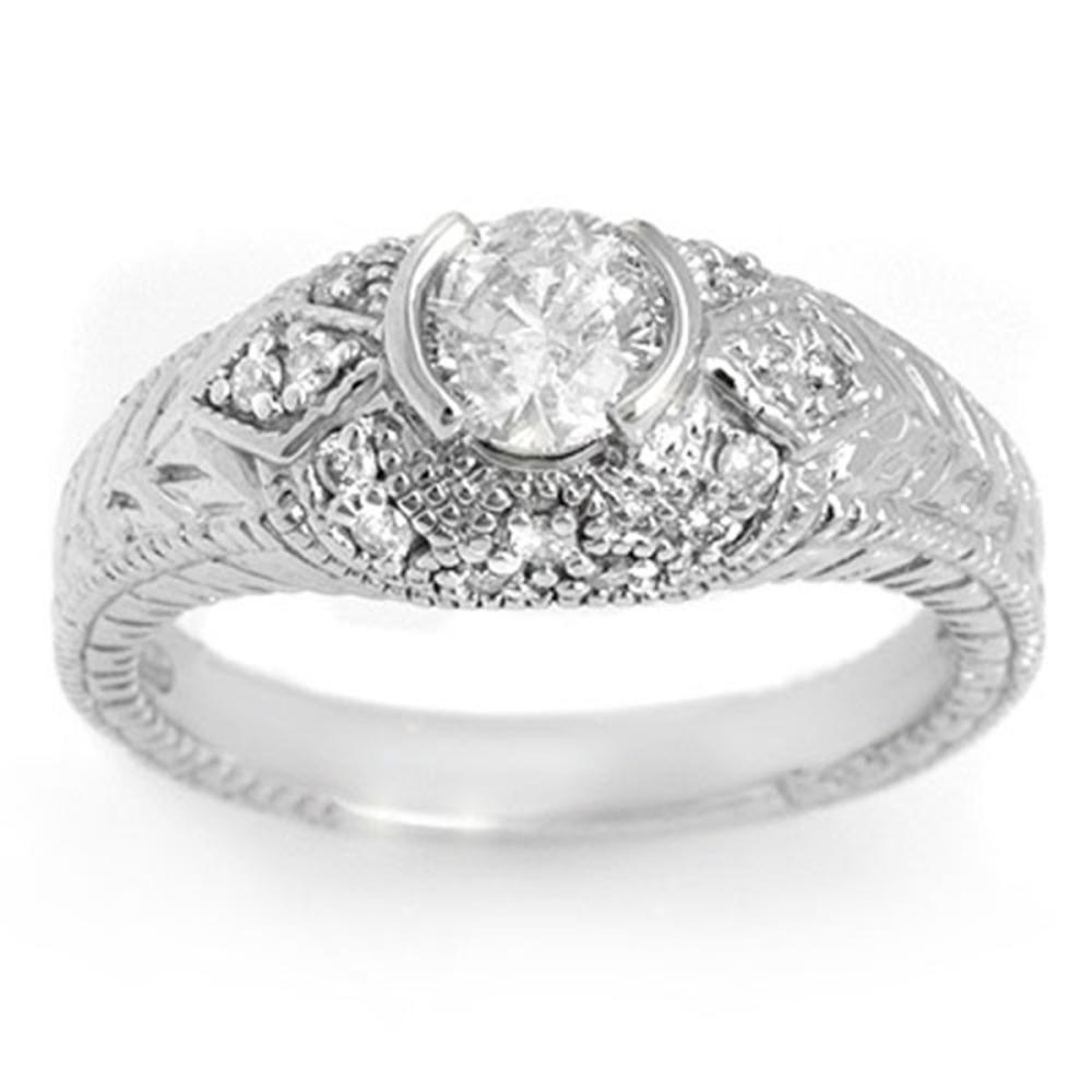 0.75 ctw VS/SI Diamond Ring 18K White Gold - REF-133A3V - SKU:11651
