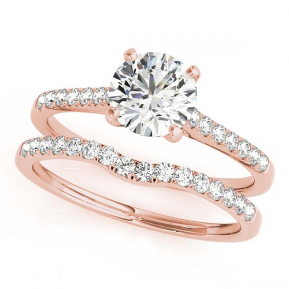 0.85 ctw VS/SI Diamond 2pc Wedding Set 14K Rose Gold - REF-94V6Y - SKU:31737