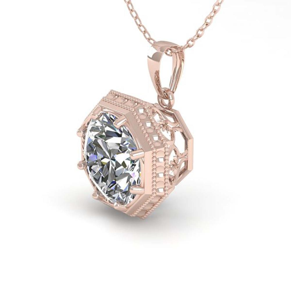 0.50 ctw VS/SI Diamond Necklace 18K Rose Gold - REF-97R3K - SKU:35990