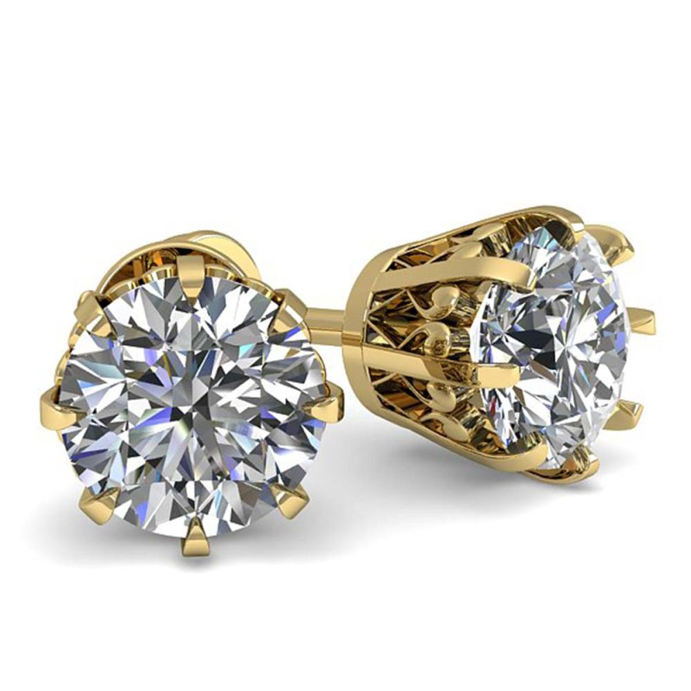1.0 ctw VS/SI Diamond Stud Earrings 18K Yellow Gold - REF-147X2R - SKU:35665