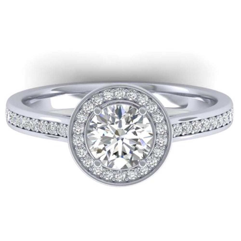 1.65 ctw VS/SI Diamond Halo Ring 14K White Gold - REF-228A5V - SKU:30429