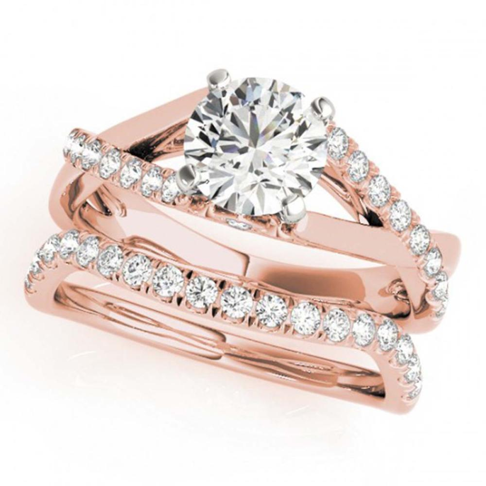 1.06 ctw VS/SI Diamond 2pc Wedding Set 14K Rose Gold - REF-115R9K - SKU:31620