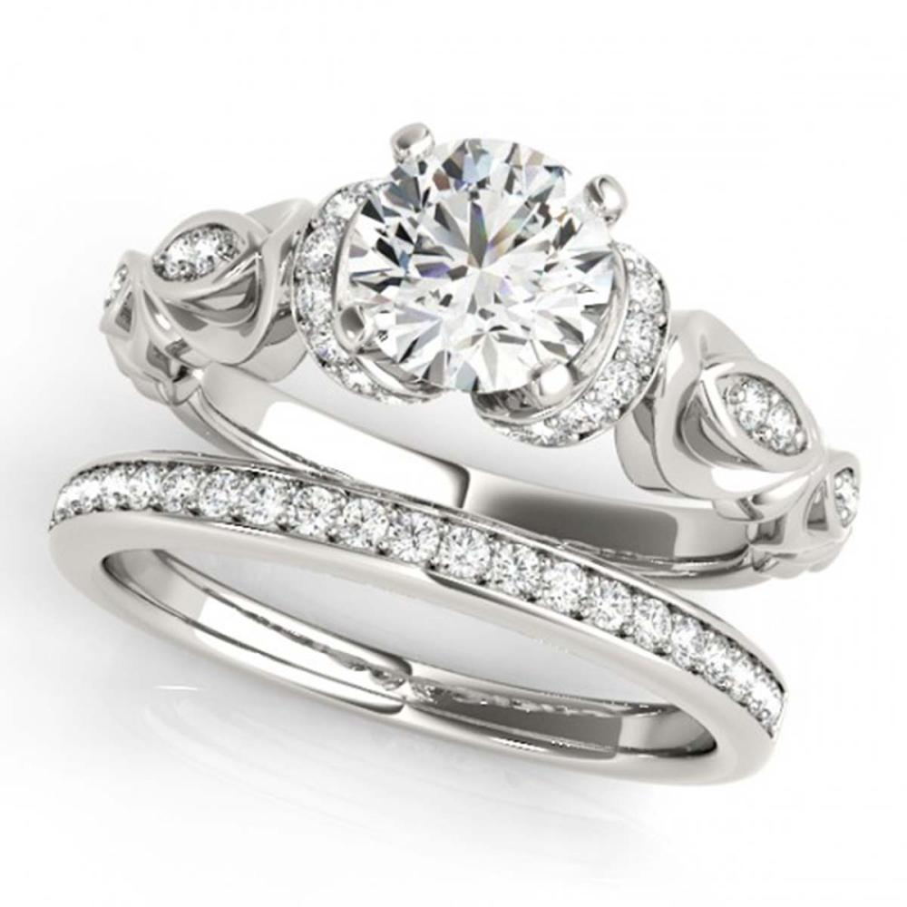 1.15 ctw VS/SI Diamond 2pc Wedding Set 14K White Gold - REF-157W6H - SKU:31472