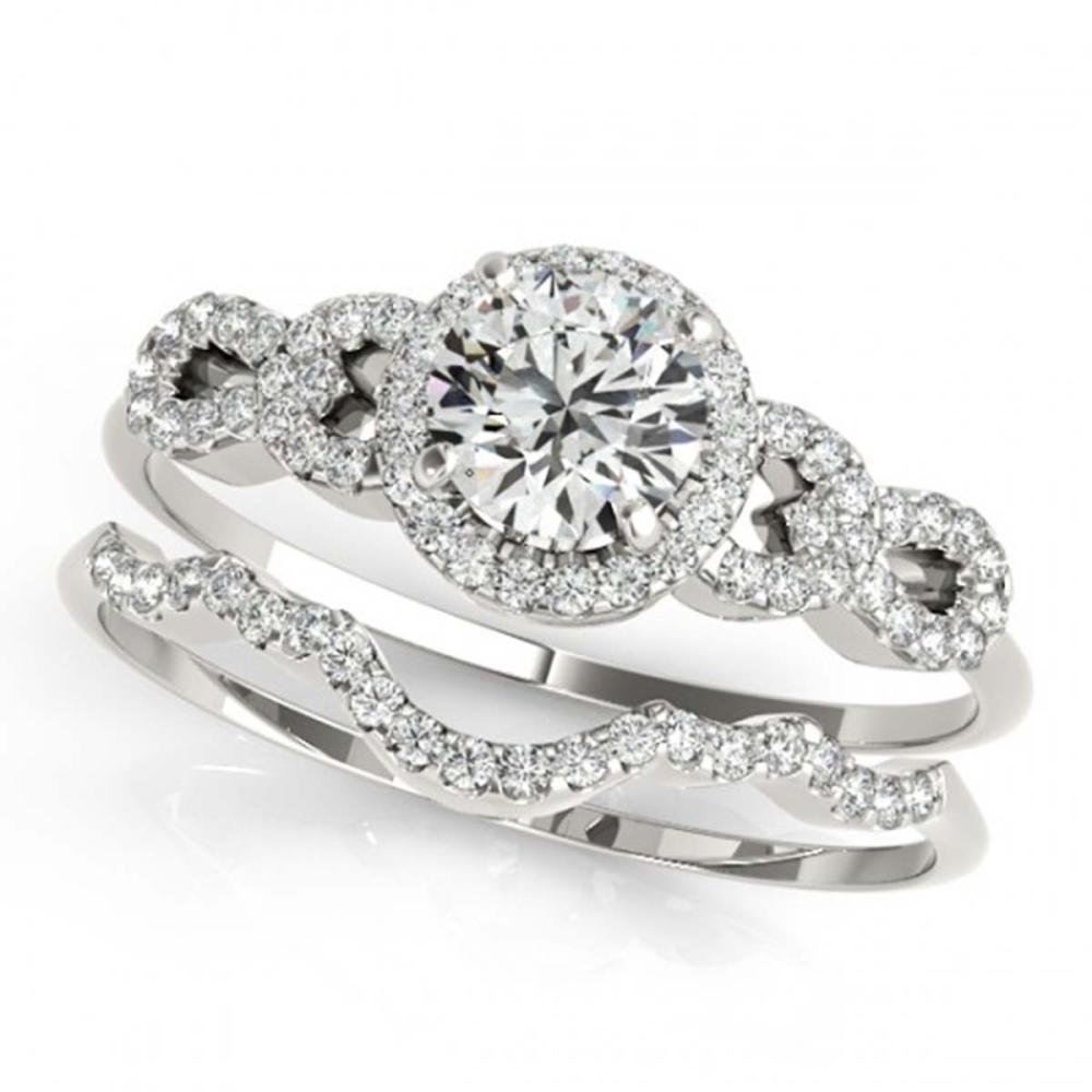 1.18 ctw VS/SI Diamond 2pc Wedding Set 14K White Gold - REF-148V4Y - SKU:31991