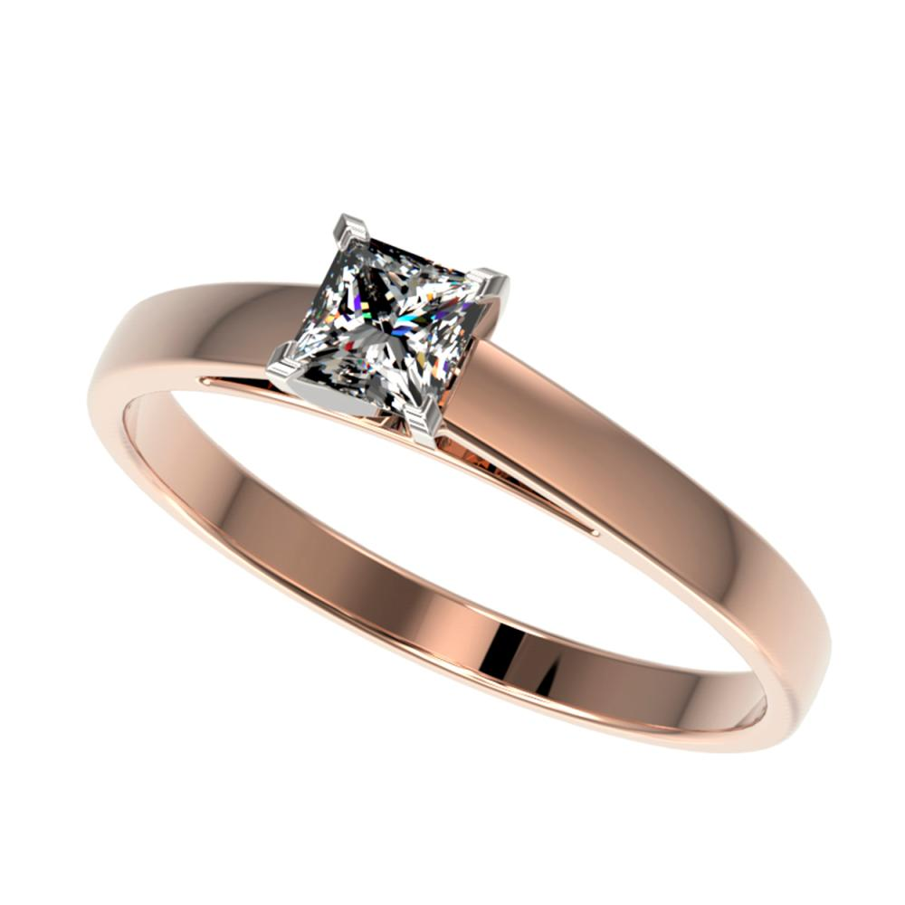 0.50 ctw VS/SI Princess Diamond Ring 10K Rose Gold - REF-73Y5X - SKU:32966