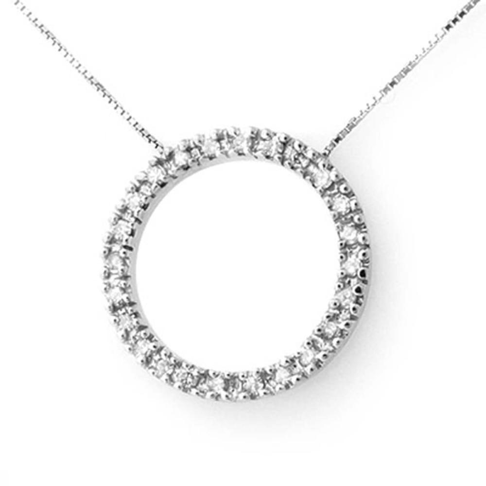 0.33 ctw VS/SI Diamond Necklace 14K White Gold - REF-39Y5X - SKU:13810