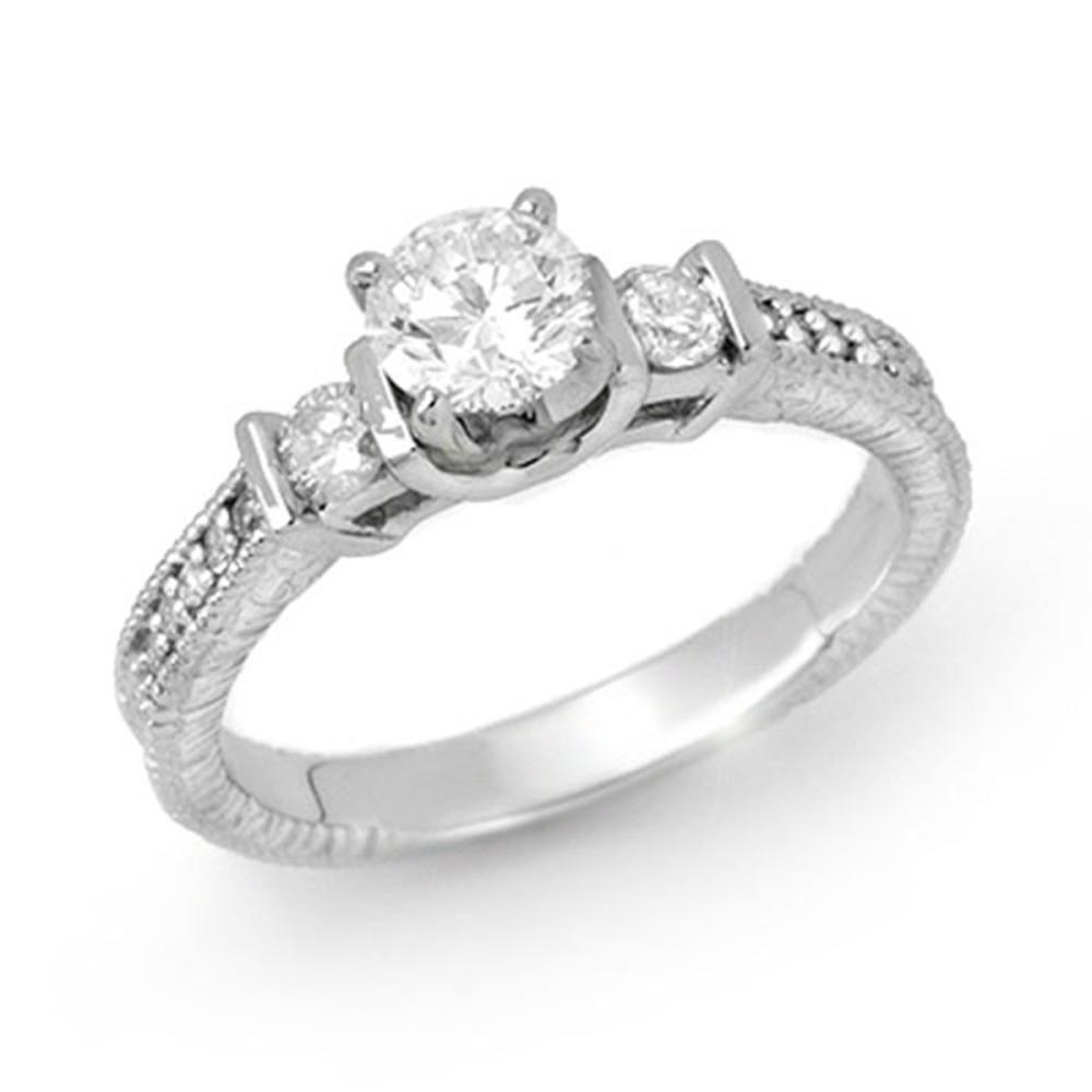 0.90 ctw VS/SI Diamond Solitaire Ring 18K White Gold - REF-154M5F - SKU:14261
