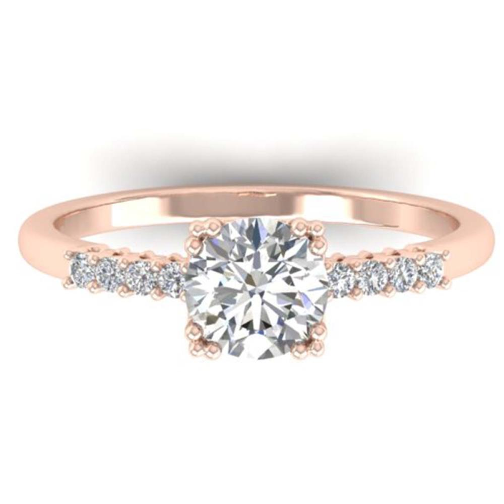 0.93 ctw VS/SI Diamond Art Deco Ring 14K Rose Gold - REF-171X3R - SKU:30457