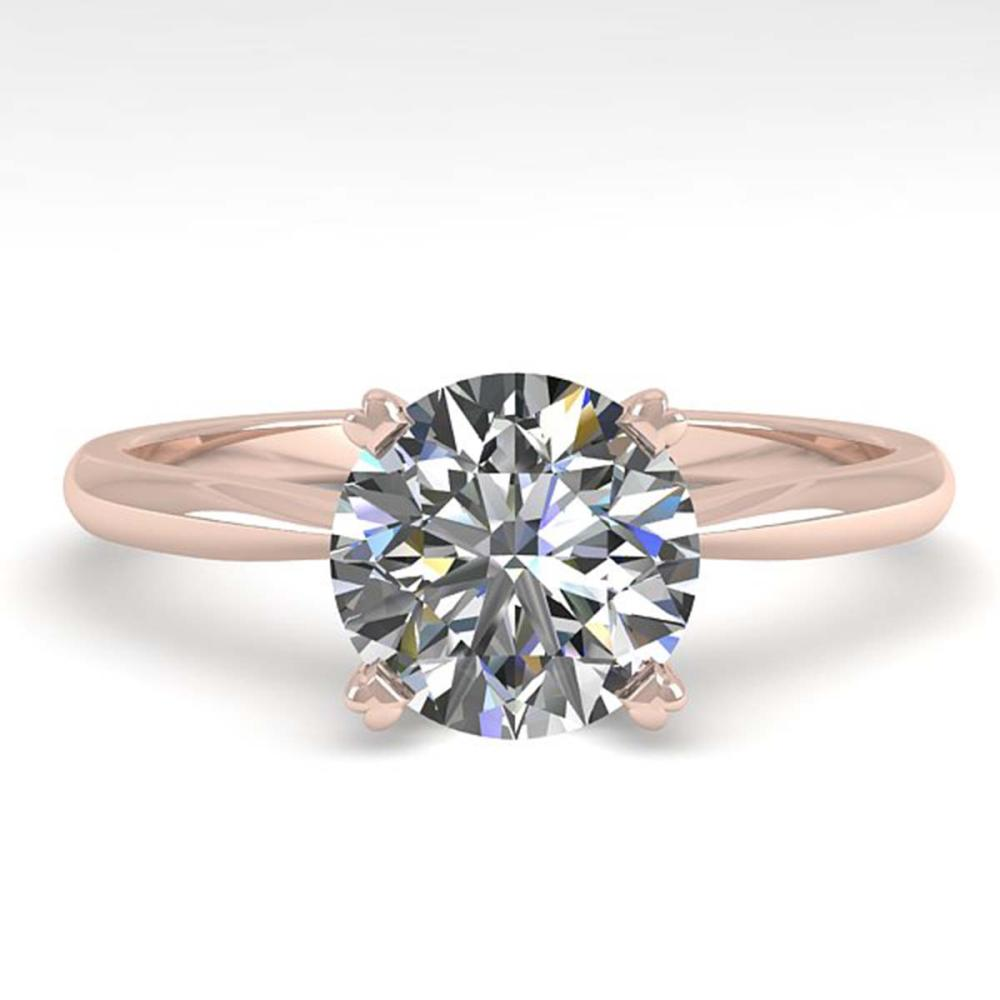 1.54 ctw VS/SI Diamond Ring 18K Rose Gold - REF-577W5H - SKU:32435