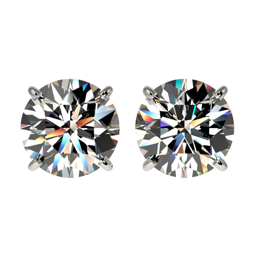 2.57 ctw H-SI/I Diamond Stud Earrings 10K White Gold - REF-435M2F - SKU:36677