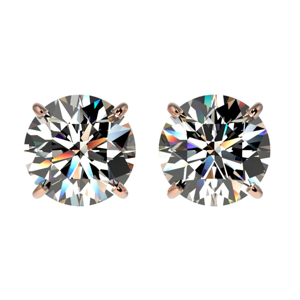 2 ctw H-SI/I Diamond Stud Earrings 10K Rose Gold - REF-367R5K - SKU:33081