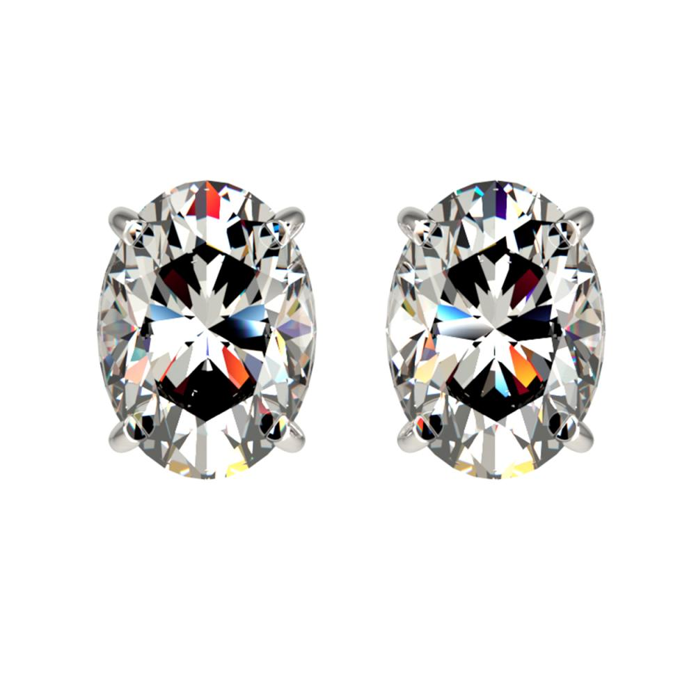 2 ctw VS/SI Oval Diamond Stud Earrings 10K White Gold - REF-585V2Y - SKU:33091