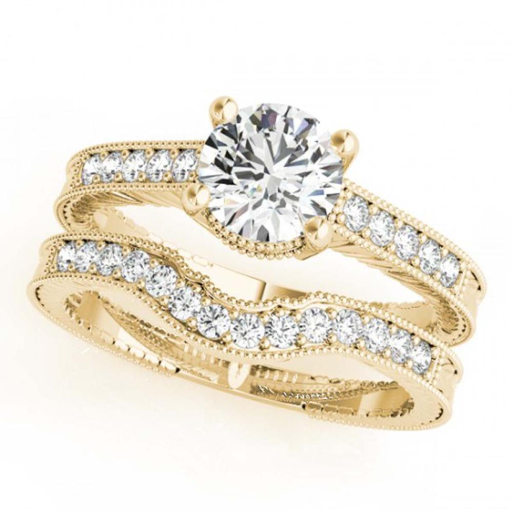 1.24 ctw VS/SI Diamond 2pc Wedding Set 14K Yellow Gold - REF-167K9W - SKU:31537