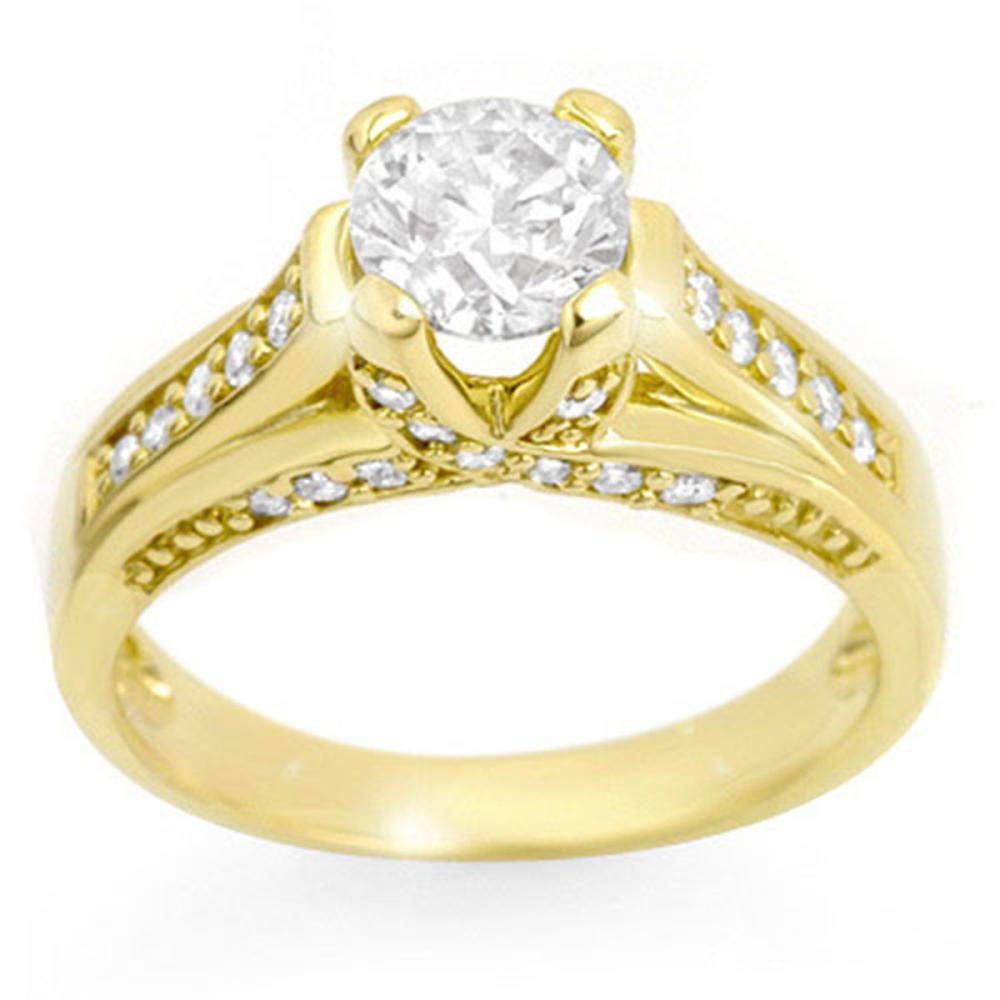1.25 ctw VS/SI Diamond Ring 14K Yellow Gold - REF-186V4Y - SKU:11599