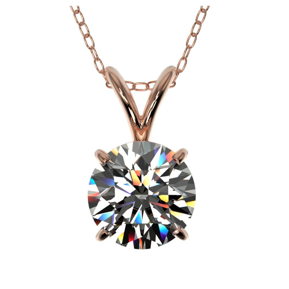 1.05 ctw H-SI/I Diamond Necklace 10K Rose Gold - REF-180A2V - SKU:36760