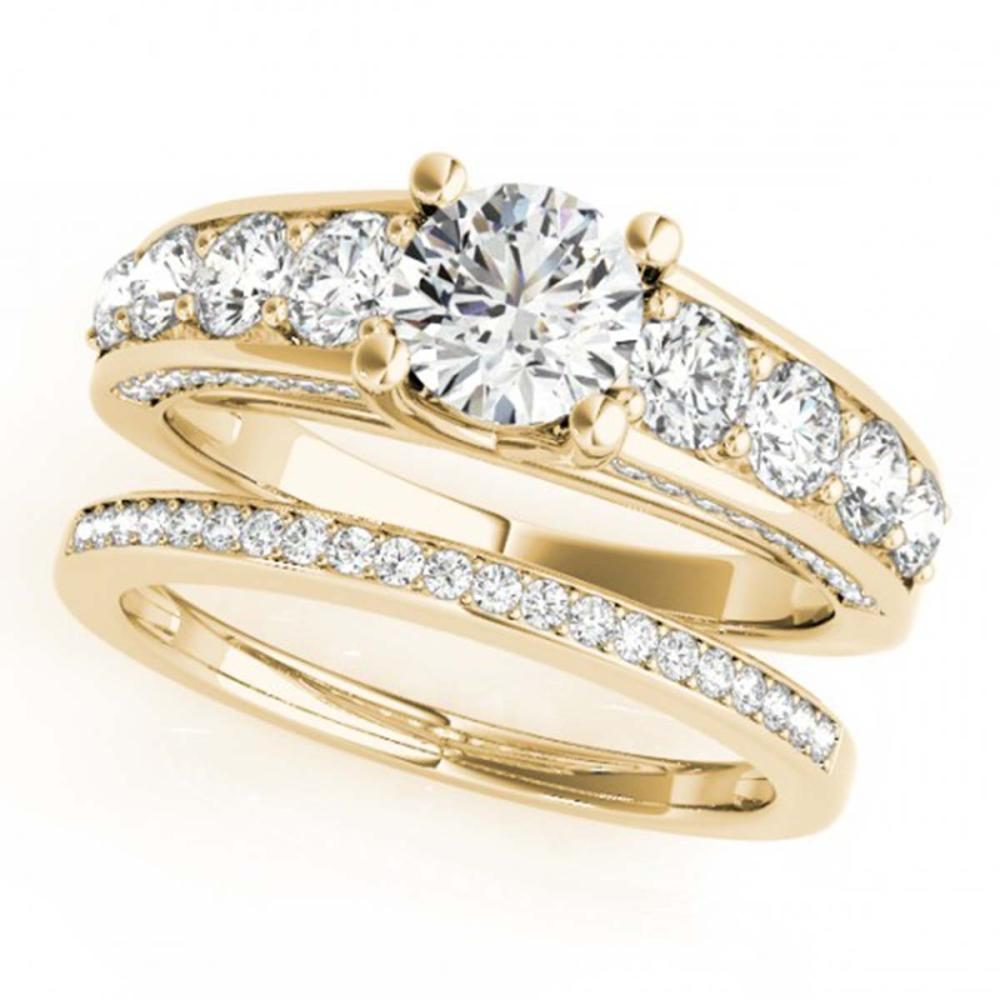 3.25 ctw VS/SI Diamond 2pc Set Wedding 14K Yellow Gold - REF-582K3W - SKU:32101