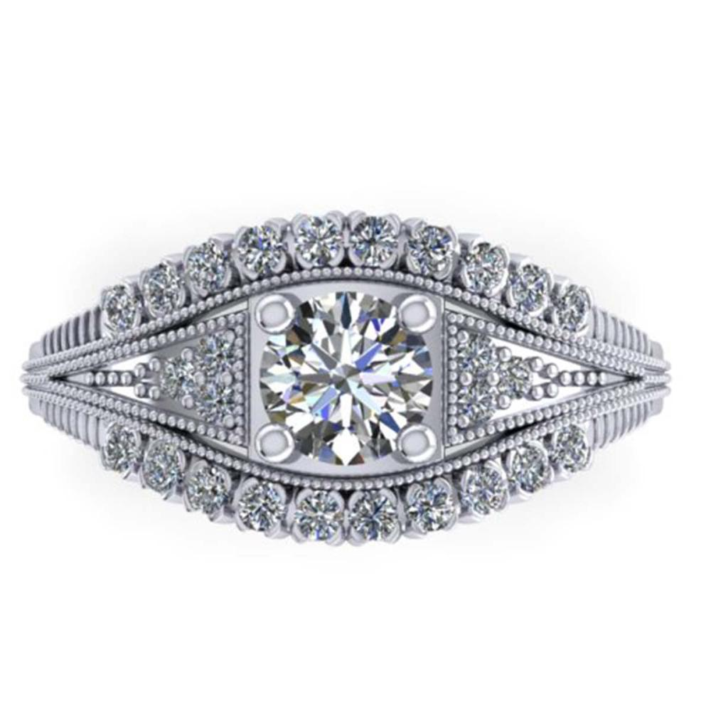 1.50 ctw Solitaire VS/SI Diamond Ring 14K White Gold - REF-232N2A - SKU:38547